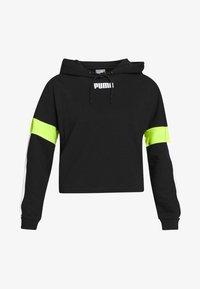 Puma - STUDIO CLASH ACTIVE HOODIE - Hoodie - black - 5