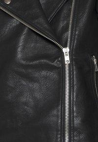 NA-KD - SHORT BACK BIKER JACKET - Leather jacket - black - 6