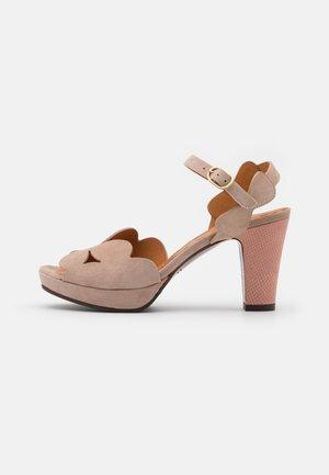 EDANA - Sandály na vysokém podpatku - peach/ada powder