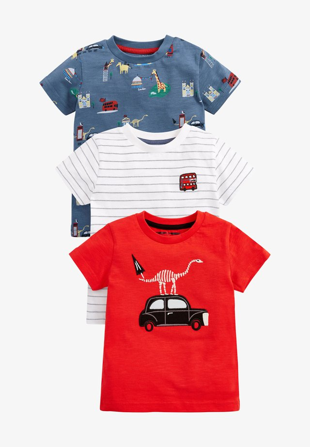 3 PACK - T-shirt con stampa - red
