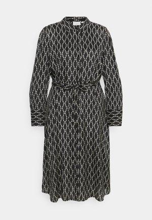 COLLIA SHIRT DRESS - Skjortekjole - black/sand