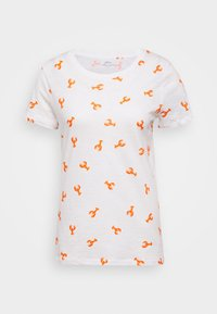 ALLOVER LOBSTER TEE - Print T-shirt - ivory bright/persimmon