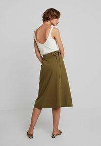 Louche - ARI - A-line skirt - khaki - 2