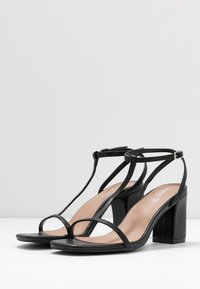 Rubi Shoes by Cotton On - MILA DOUBLE STRAP HEEL - Sandály - black - 4