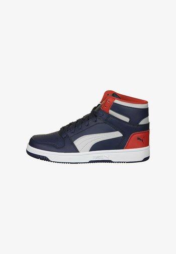 REBOUND LAYUP - Zapatillas altas - peacoat grey violet / high risk red / white