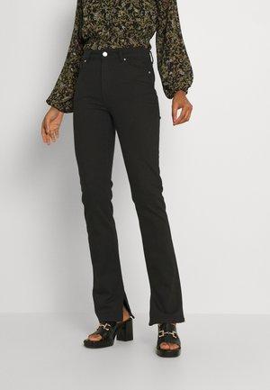ENBARBARA SLIT - Straight leg jeans - black