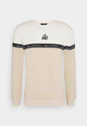 LEPDEN - Sweater - sand/white