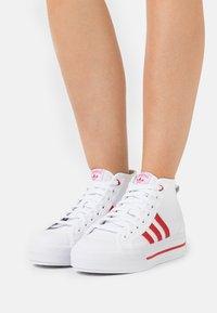 adidas Originals - NIZZA PLATFORM  - High-top trainers - footwear white/scarlet red - 6
