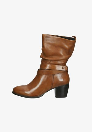 Classic ankle boots - cognac leather