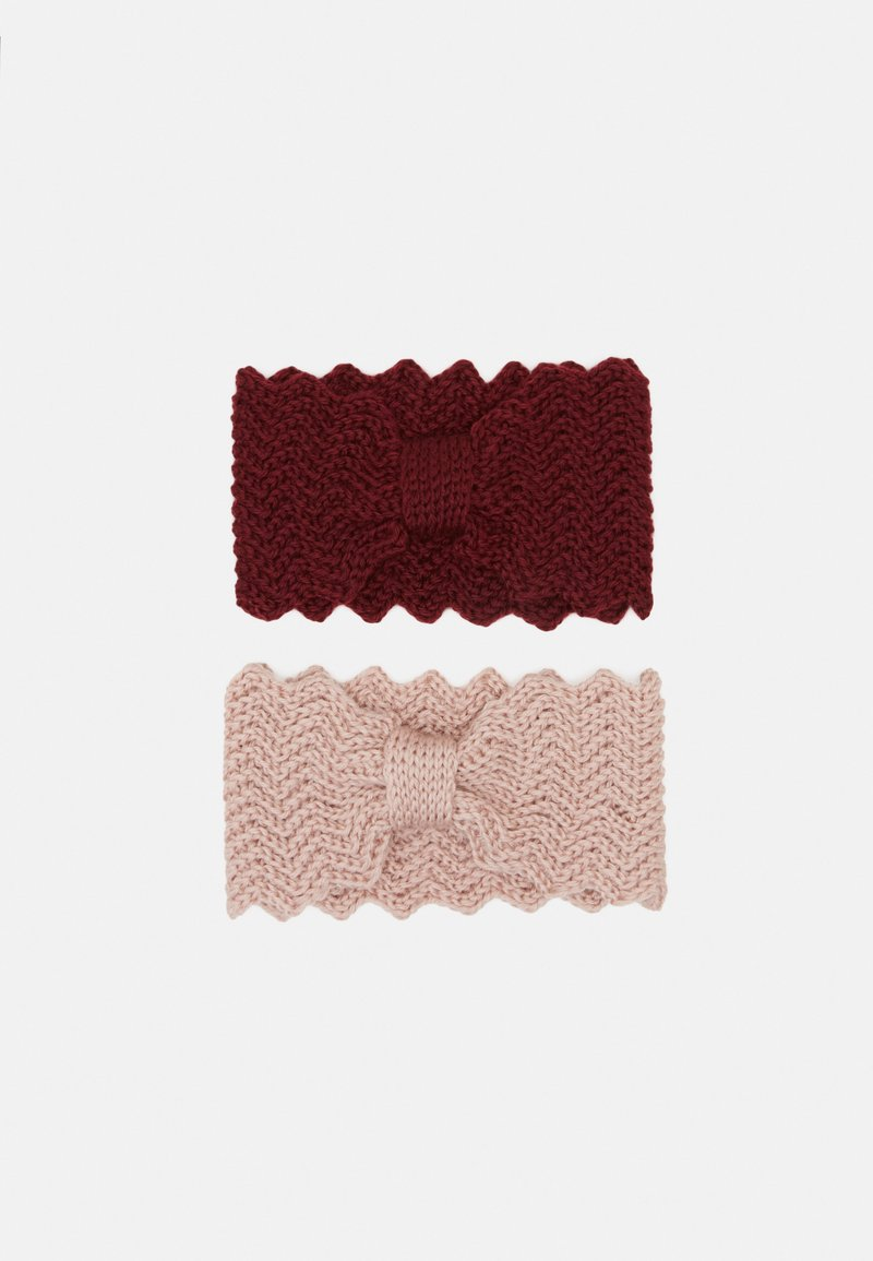 Even&Odd - Ear warmers - light pink/bordeaux