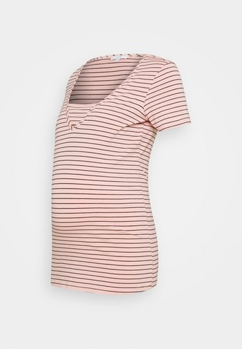 DILLON - T-shirt z nadrukiem - rose tan