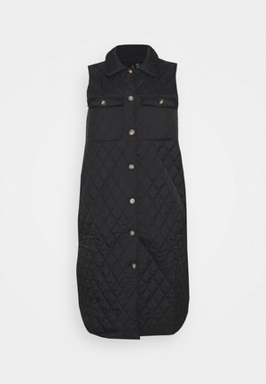 VMKATJA LONG QUILTED VEST - Smanicato - black