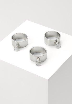 DOOR KNOCKER RINGS 3 PACK - Ring - silver-coloured