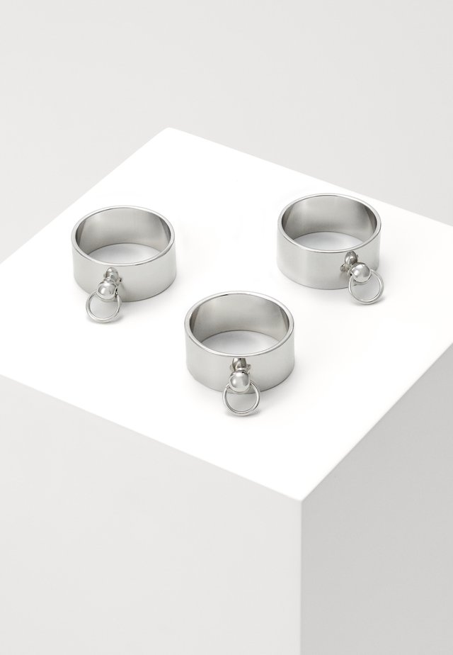 DOOR KNOCKER RINGS 3 PACK - Ringar - silver-coloured