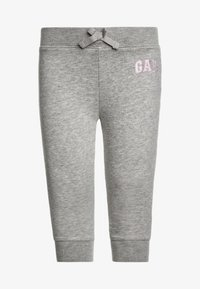 GAP - TODDLER GIRL LOGO  - Tracksuit bottoms - light heather grey - 0