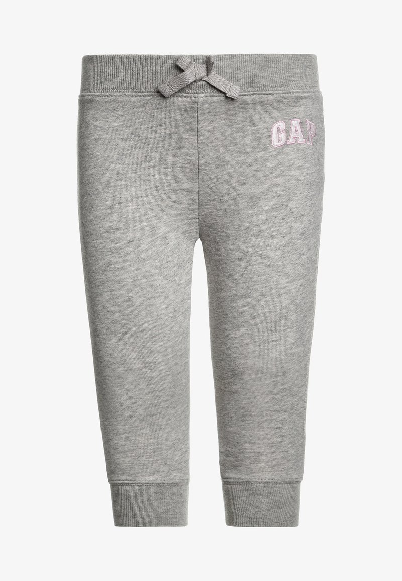 GAP - TODDLER GIRL LOGO  - Tracksuit bottoms - light heather grey