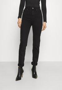 Marks & Spencer London - SOPHIA - Straight leg jeans - black denim - 0