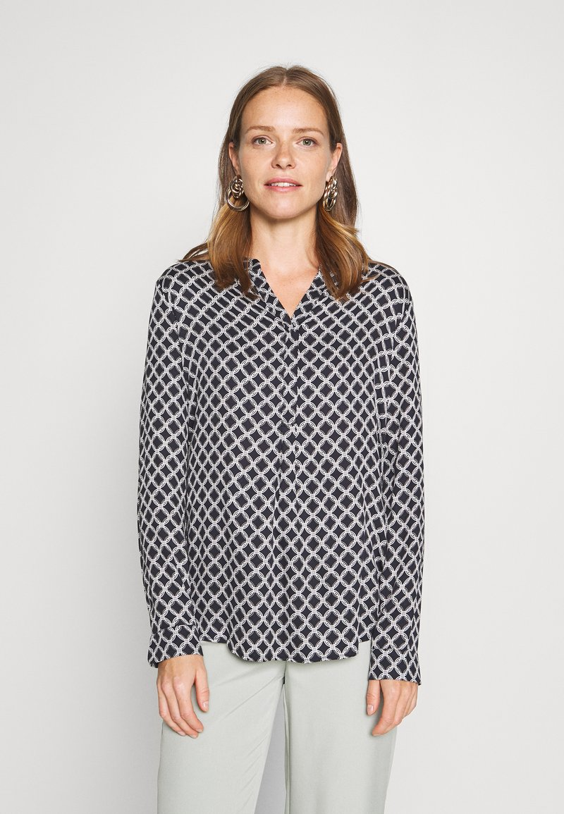 comma casual identity - LANGARM - Blouse - blue