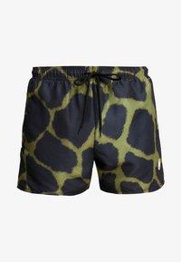 Topman - GIRAFFE SWIM - Shorts da mare - khaki/black - 2