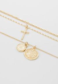 Topshop - COIN CROSS - Halskette - gold-coloured - 4