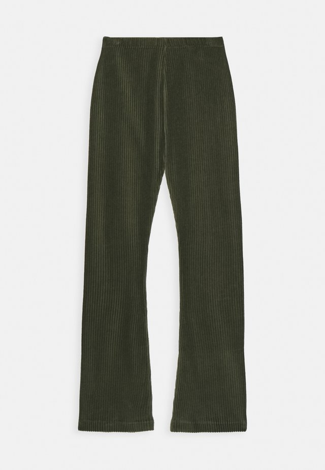 STRETCH CORDUROY LONINA - Stoffhose - forest night