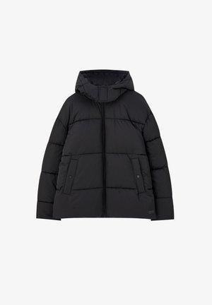 STEPPJACKE MIT ABNEHMBARER KAPUZE 05713504 - Zimní bunda - black