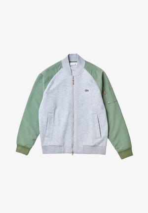 Bomber Jacket - gris chine/vert
