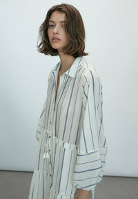 Massimo Dutti - STREIFEN - Maxi dress - white - 1