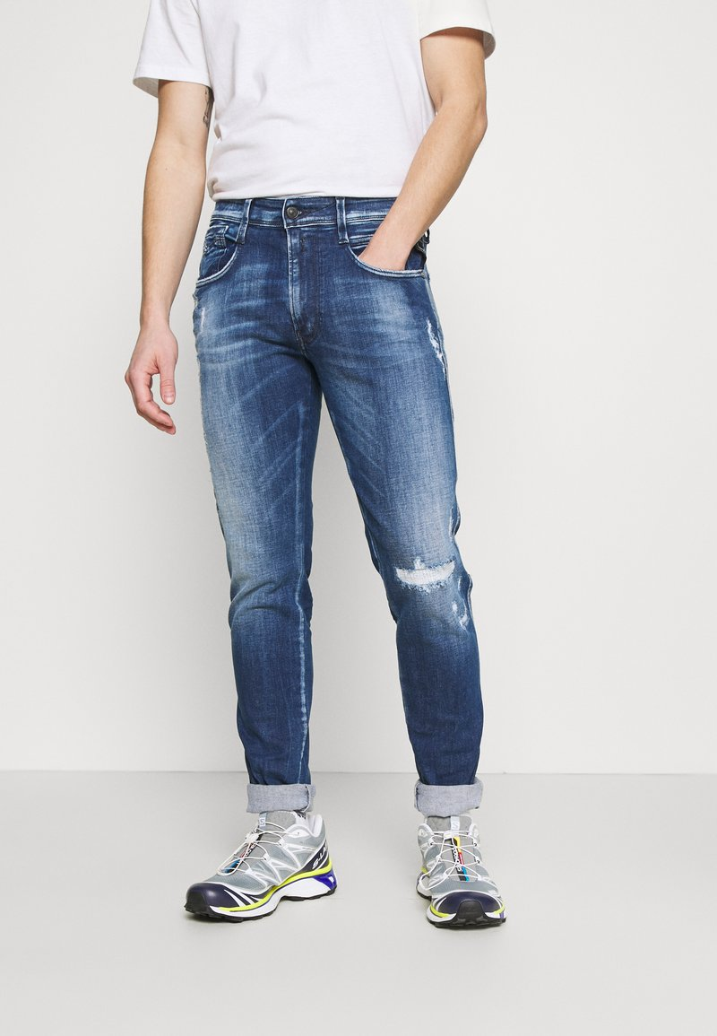 Replay - BRONNY - Jeans Tapered Fit - medium blue