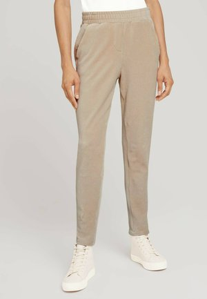 Trousers - cold beige