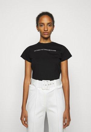 SLIM FIT LOGO - T-shirt z nadrukiem - black