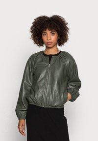 InWear - CADIX JACKET - Leather jacket - green olive - 0