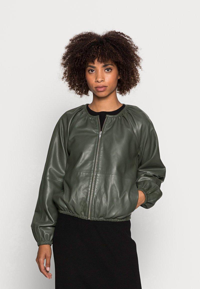 InWear - CADIX JACKET - Leather jacket - green olive
