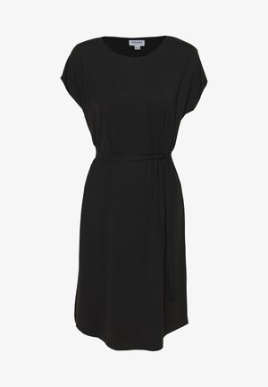 VMAVA PLAIN KNEE DRESS - Žerzejové šaty - black
