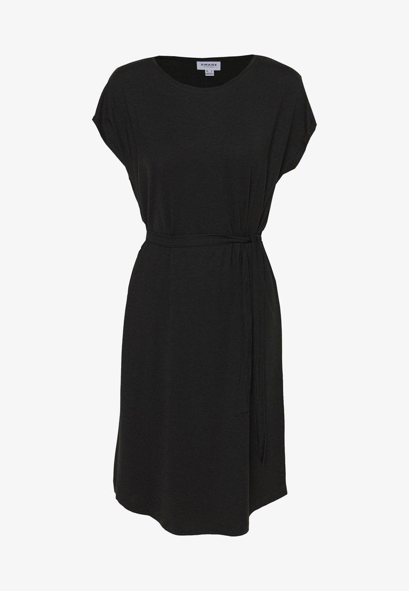 Vero Moda - VMAVA PLAIN KNEE DRESS - Žerzejové šaty - black