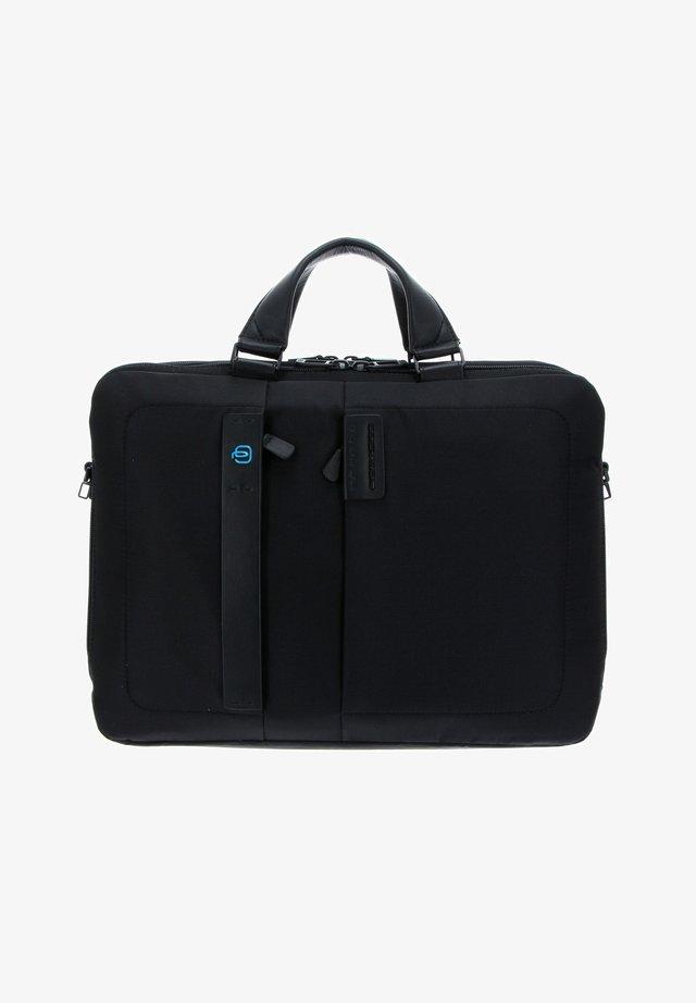Briefcase - chevron / nero
