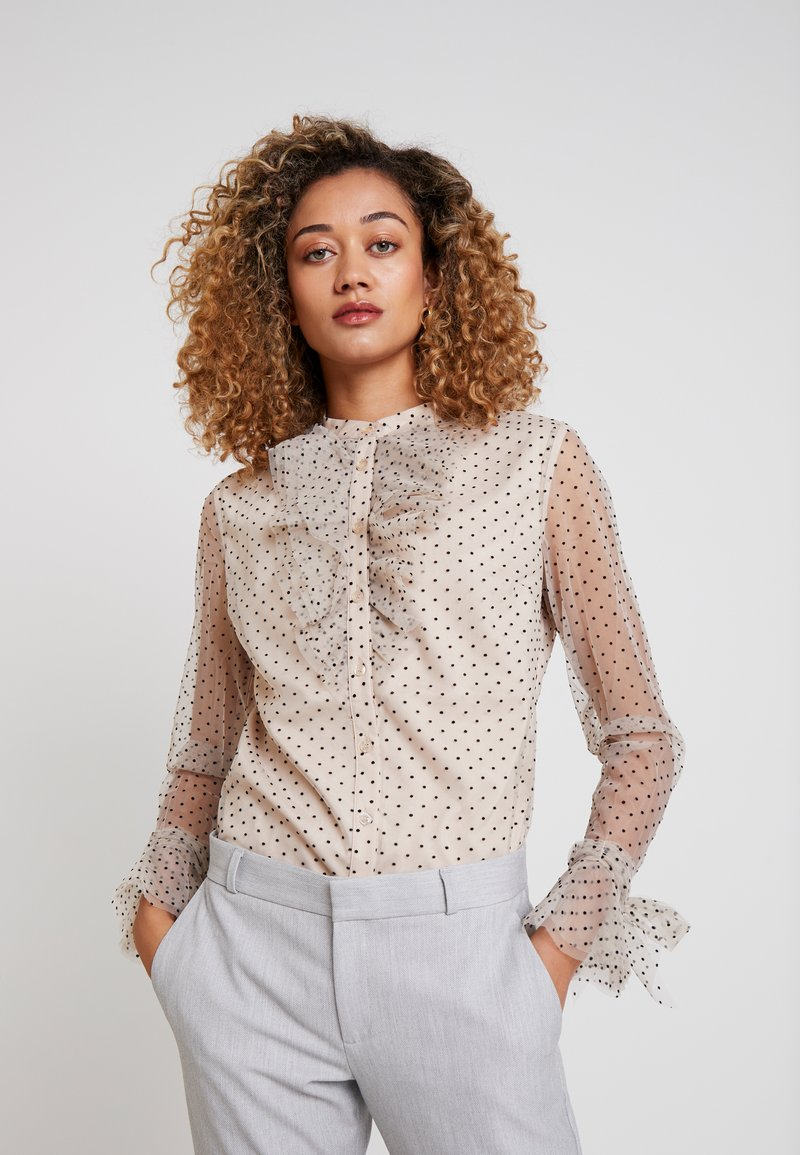 Apart - BLOUSE WITH DOTS - Blouse - nude/black