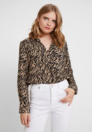 PRINTED BLOUSE - Blouse - beige/camel