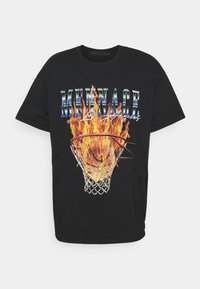 Mennace - BURNING HOOP - T-shirt con stampa - black - 4