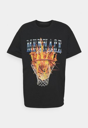 BURNING HOOP - Printtipaita - black