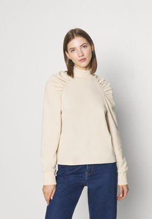 Sweatshirt - solid beige