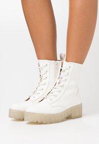 Even&Odd - Platform ankle boots - white - 0
