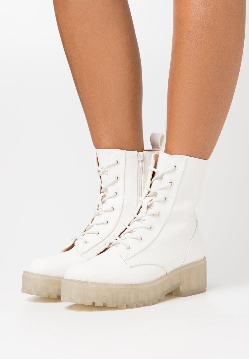 Even&Odd - Platform ankle boots - white