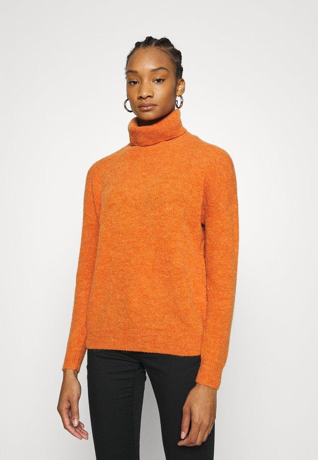 FEMME ROLL NECK PULLOVER - Jumper - apricot orange