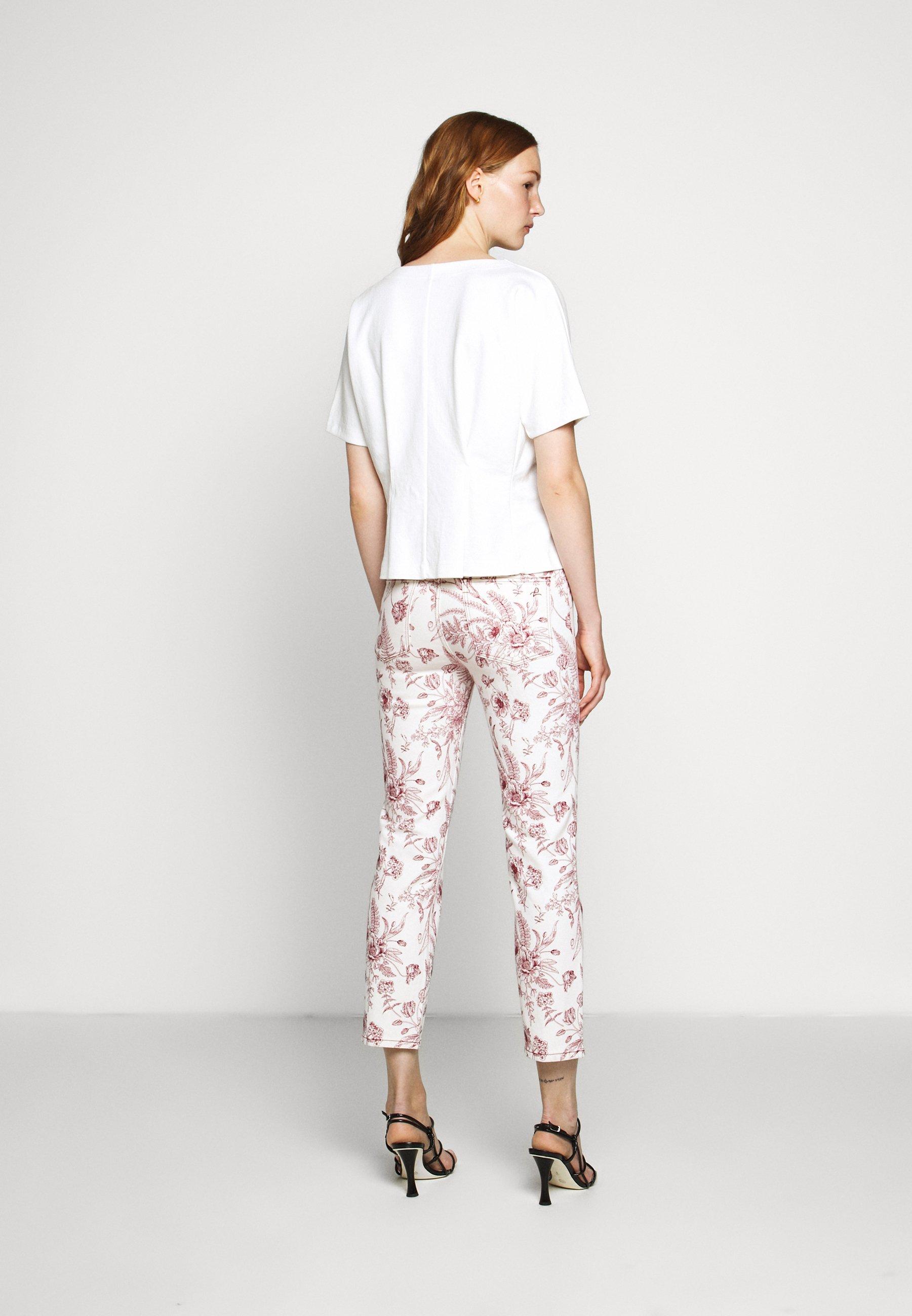Classic Women's Clothing Club Monaco BOX PLEAT Print T-shirt cloud Ki3mdcT1y