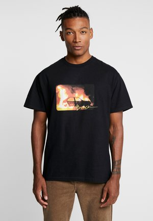 INFERNO FRONT - Print T-shirt - black