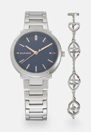 GIFT SET - Horloge - silver/blue