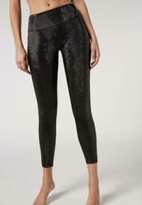 Calzedonia - TOTAL SHAPER - Leggings - Trousers - schwarz  - python black - 0