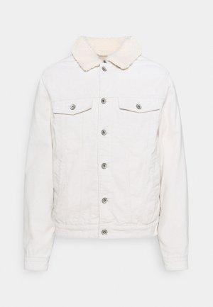UNISEX BORG DENIM JACKET - Denim jacket - ecru cord