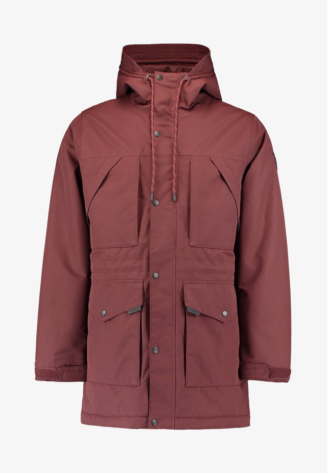 JOURNEY PARKA JACKET - Chaqueta de snowboard - bitter chocolate